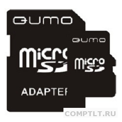 Micro SecureDigital 8Gb QUMO QM8GMICSDHC4 MicroSDHC Class 4, SD adapter