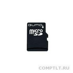Micro SecureDigital 4Gb QUMO QM4GMICSDHC10 MicroSDHC Class 10, SD adapter