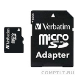 Micro SecureDigital 8Gb Verbatim 44081 MicroSDHC Class 10 UHS-I, SD adapter